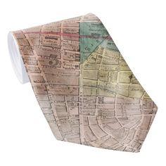 Vintage Map of New York City (1835) Neck Tie