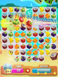 Juice Cubes App by Rovio. Puzzle elimination apps.