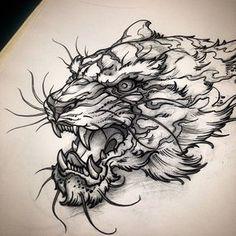 Also got this demon tiger #red9ine #tigertattoo #tiger #tattoo #tattoos