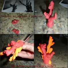 make faux coral from polymer clay tutorial