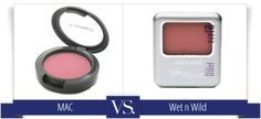 MAC Desert Rose vs Wet n Wild Mellow Wine