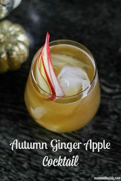 Move aside pumpkin spice, the Autumn Ginger Apple Cocktail is fall's must have drink. Get the recipe for this delicious fall cocktail!  via /momontheside/