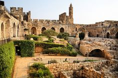 The Tower of David. The Tower of David is an ancient citadel located near the Jaffa Gate entrance to the Old City of Jerusalem. (V)