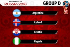 World Cup 2018 - Group D