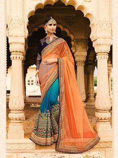 New Saree Bollywood Designer Embroidered Georgette Silk Saree In Hand Made Work  #Handmade #Saree #WeddingPartywear