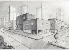 two point perspective drawing city - Google Search