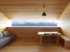 Gaudin House - Small Cabin - Savioz Fabrizzi Architectes - Switzerland - Window View - Humble Homes Architecture Design, Interior And Exterior, Interior Design, Design Interiors, Interior Decorating, Design Moderne, Modern Design, New Homes, House Design