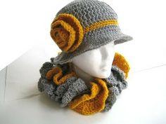 Crochet Dreamz: Ruffled Cowl and Brimmed Hat Set (pdf pattern )