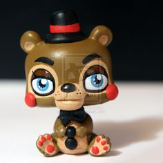 Toy Freddy from inspired LPS custom by pia-chu on DeviantArt