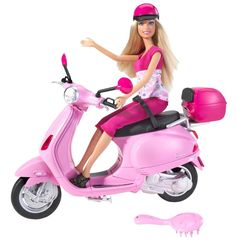 even Barbie loves scooters!