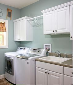 washer top loading with dryer, utility sink, rod and some storage.(utility sink can be free standing) Laundry Room Sink, Laundry Room Shelves, Laundry Room Remodel, Small Laundry Rooms, Laundry Room Organization, Laundry Room Design, Laundry Area, Laundry Basket, Small Bathroom