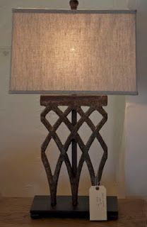 Iron gate table lamp