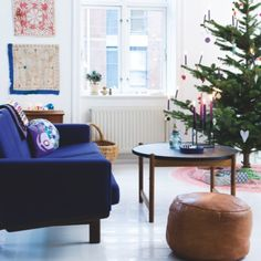 . Decor Crafts, Home Decor, Ottoman, Christmas Decorations, Sofa, Interior Design, Chair, Furniture, Living Rooms