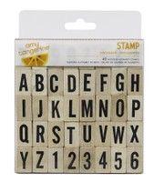 Document Yes, Please Amy Tangerine Alphabet Stamp Set