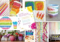 Sugarhouse Ink: Party Board #3 - Tie Dye Party