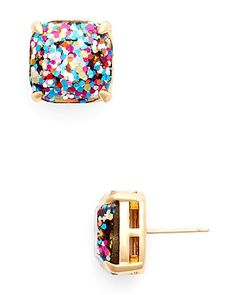 kate spade multi glitter stud earrings