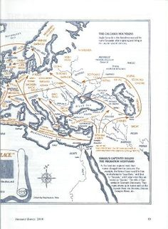 The Migrations Of The Twelve Tribes Of Israel