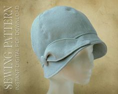 This PDF sewing pattern from Elsewhen Millinery is for a lovely vintage-style cloche hat to fit adults and children. The PDF file is available as an instant Hat Patterns To Sew, Vintage Sewing Patterns, Quilting Patterns, Clothes Patterns, Sewing Clothes, Sewing Terms, Easy Sewing Projects, Sewing Crafts, Love Sewing