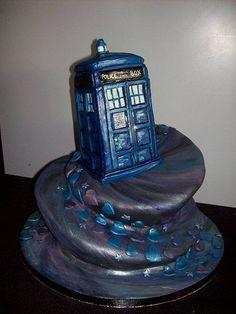 Tardis Cake.