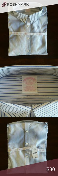 Brooks Brothers' women's non-iron dress shirt Beautiful dress shirt with non-iron fabric. New with tags. Brooks Brothers Tops Button Down Shirts