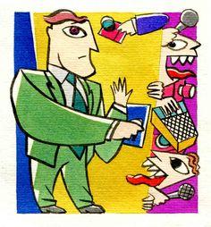 Ilustração para a revista Exame