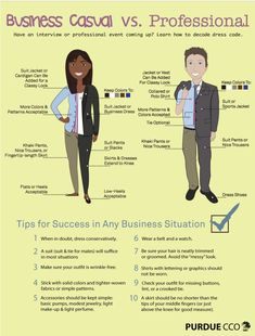 Dress to Impress: Business Casual vs. Professional Dress Tips Key points separating professional versus business casual dress. Business Professional Attire, Business Casual Dresses, Professional Dresses, Business Outfits, Business Attire, Business Fashion, Business Women, Casual Professional, Professional Wardrobe