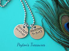Hand Stamped Necklace Hand Stamped Jewelry by PeytonsTreasures, $23.00