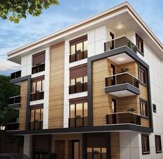 86 Architectural Design Pictures for Residential Buildings _exteriordesignapartment The post 86 Architectural Design Pictures for Residential Buildings appeared first on Baustil. Residential Building Design, Modern Residential Architecture, Home Building Design, Facade Architecture, Japanese Architecture, Sustainable Architecture, Modern Apartment Design, House Front Design, Facade Design