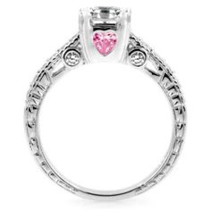 Asscher Cut PINK HEART Engagement Promise Ring CZ 925 Sterling Silver Sizes 4 5 6 7 8 9 10 11 or 12 #EngagementRing #Gift #Jewelry #Ring #Love #promisering #ChristmasGift