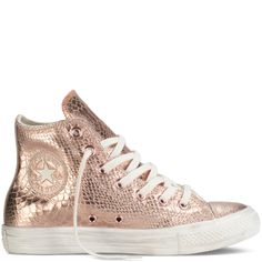 converse chuck taylor metallic rose gold