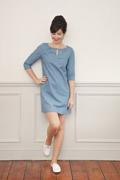 Sew Over It Lulu Dress sewing pattern : simple to sew and easy to wear, Lulu is a handmade wardrobe staple