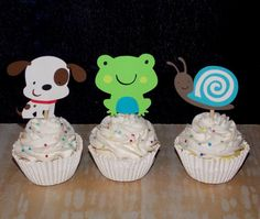 Snips and Snail & Puppy dog tails Cupcake by APaperPlayground