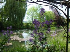 The flower garden of the house of the impressionist painter Claude Monet  Giverny (France)