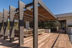 The wooden pergola is a good solution to add beauty to your garden. If you are not ready to spend thousands of dollars for building a cozy pergola then you may devise new strategies of trying out something different so that you can re Diy Pergola, Gazebo, Corner Pergola, Wood Pergola, Pergola Canopy, Pergola Swing, Deck With Pergola, Covered Pergola, Pergola Shade
