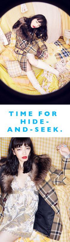 小松菜奈が迷い込んだ、チェックが織りなす白日夢。 | VOGUE GIRL
