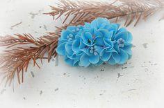 Blue Hydrangea Wedding Barrette  Wedding Floral by FloralStyle, $50.00