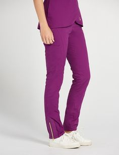The Moto Pant Plum