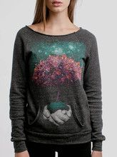 Creation - Multicolor on Charcoal Women's Maniac Sweatshirt - Curbside Clothing