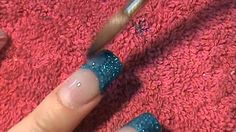 Acrylic Nails Tutorial -How to apply glitter -boldntrendynails