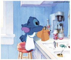 Awwww Stitch is so helpful and cute :)