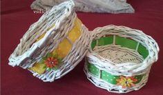 Velikonoce+ve+dvou+Košíčky+pletené+z+papírových+ruliček+o+průměru+15+cm.