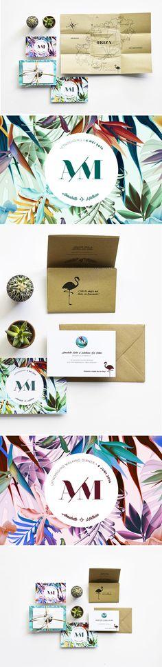 Annabelle & Mathieu Wedding invitation - Ibiza - grafisch ontwerp - huwelijksuitnodiging