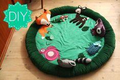 DIY tutorial: Baby aktivitetstæppe med skovens dyr!
