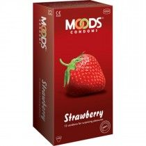 Moods Strawberry with dots condoms (Pack of 12Pcs) double the pleasure – their delicate strawberry flavour is a delight for the senses. Dots, meanwhile, help in increasing stimulation and excitement of love making. One can double up the pleasure of love making with these fruity condoms.