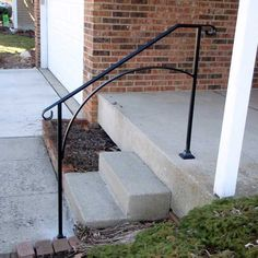 Hand Made Wrought Iron Arch3 Style Handrail for Steps- Easy DIY Installation by DIYHandrail on Etsy https://www.etsy.com/listing/233045854/hand-made-wrought-iron-arch3-style