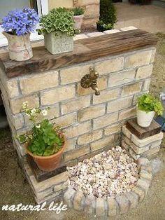 Decorative Garden Fencing Will Make Your Garden Stand Out Inspiration to well. Förvaringsbod and Bakkant. Garden Sink, Garden Art, Garden Design, Home And Garden, Diy Garden, Garden Theme, Garden Plants, Garden Tools, Garden Ideas
