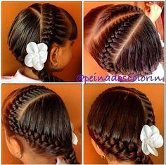 Fun new braid to try. Girls Hairdos, Kids Braided Hairstyles, Cute Little Girl Hairstyles, Princess Hairstyles, Pretty Hairstyles, Little Girl Braids, Girls Braids, Hair Creations, Toddler Hair
