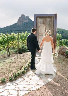 ceremony: door backdrop