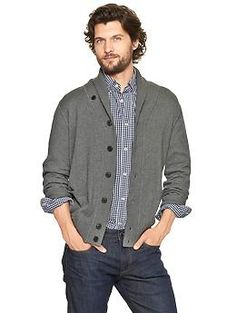 Cotton cashmere shawl cardigan | Gap