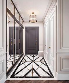 Hallway Designs, Foyer Design, Lobby Design, Home Room Design, Home Interior Design, House Design, Luxury Home Decor, Luxury Interior, Entrance Hall Decor